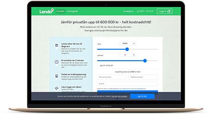 Jämför privatlån snabbt och tryggt via Lendo
