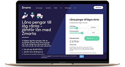 Jämför konsumtionslån på belopp upp till 600 000 kr via Zmarta